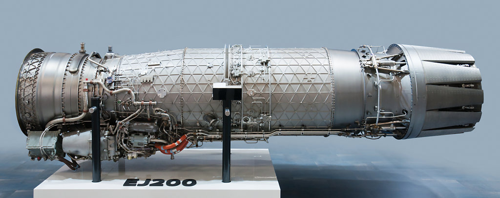 Eurojet EJ200 turbofan engine for Eurofighter Typhoon aircraft.