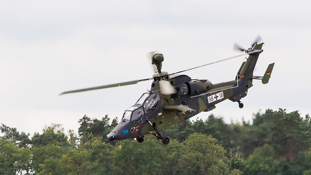 German Army Eurocopter EC 665 Tiger UHT 98-18 in flight